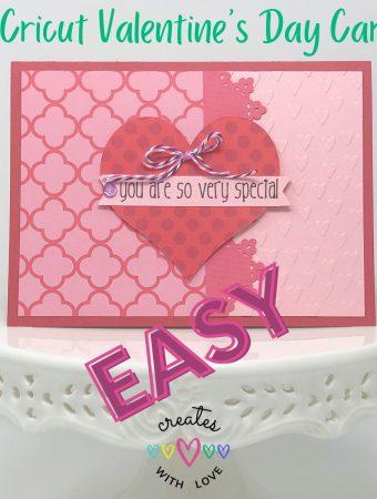 Cricut Valentines Day Card