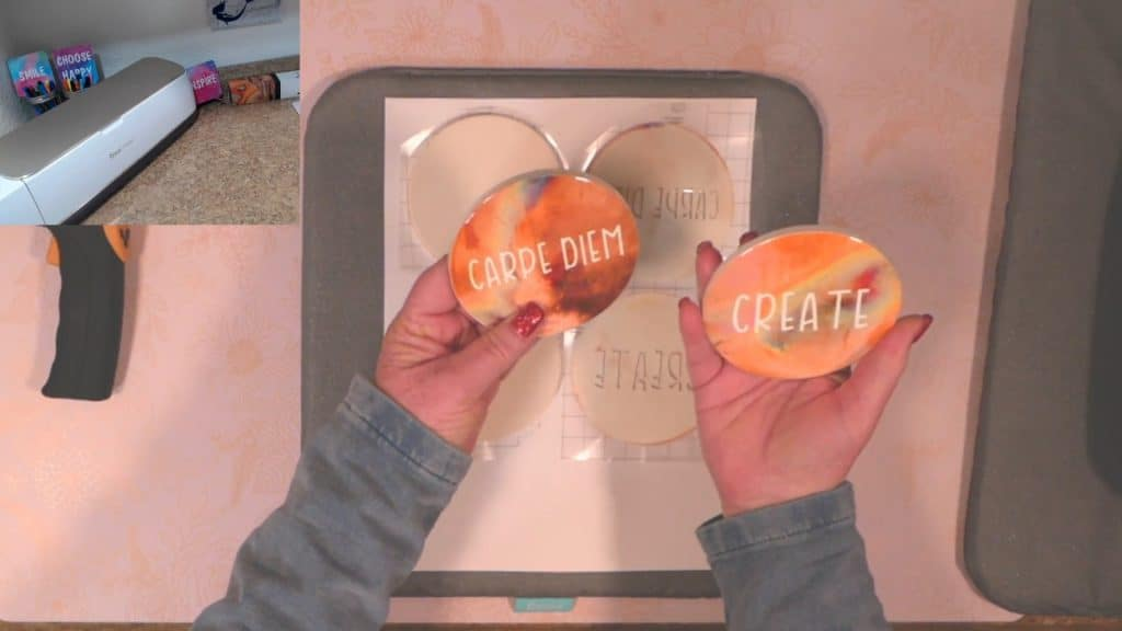 carpe diem and create coasters