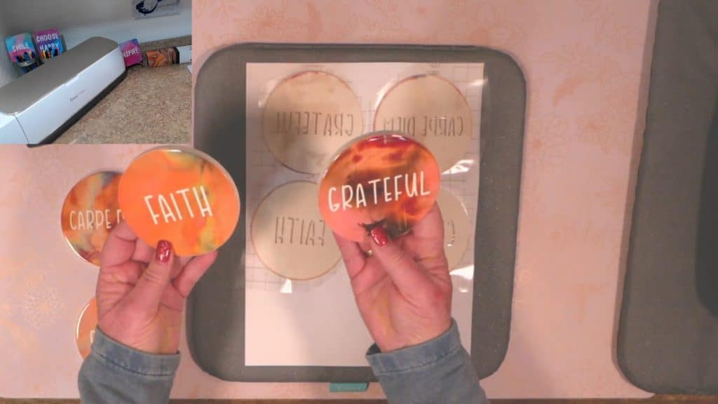 faith coaster and grateful coaster