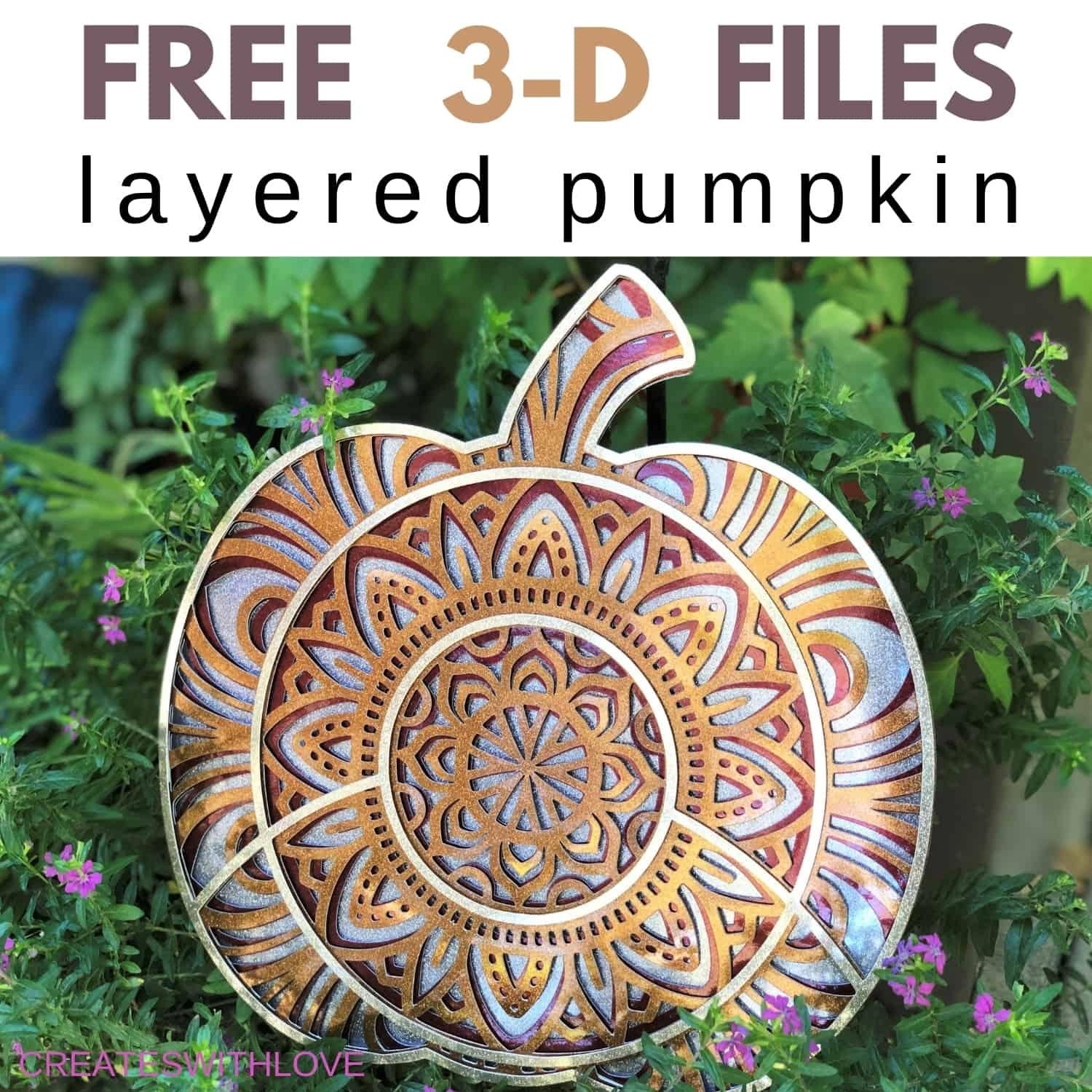 3D Layered Design Pumpkin with FREE SVG Files