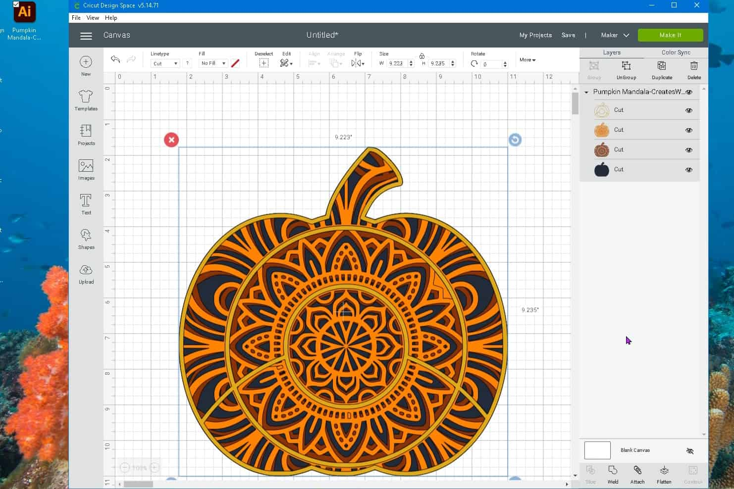 uploaded free svg file into cricut design space