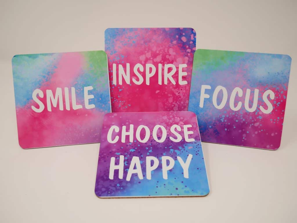cricut infusible ink coasters set of 4