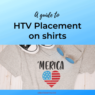 picture of a gray v neck t-shirt with the word 'Merica and a red, white, blue flag in the shape of a heart.