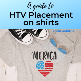 T-shirt showing a red and blue flag in svg format to use HTV placment on shirt.