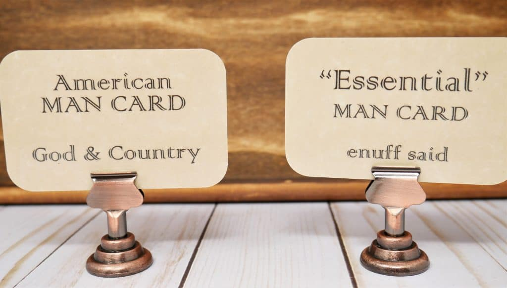 """American Man Card """"God & Country"""" """"Essential"""" Man Card, enuff said."""