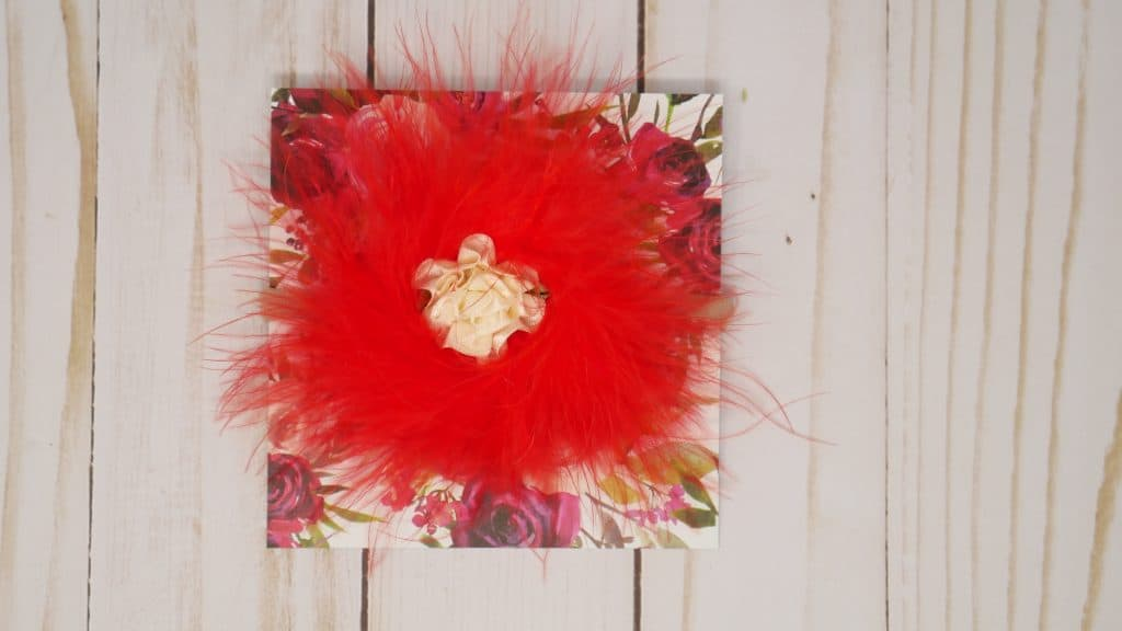 Red and Cream Baby Headband