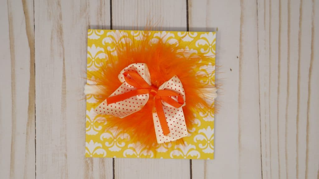 Yellow and Orange baby headband