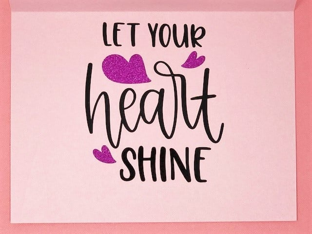 let your heart shine statement
