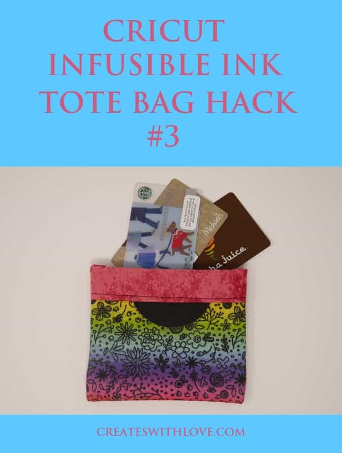 cricut infusible ink tote bag hack #3