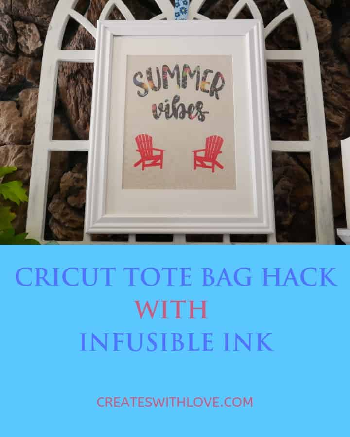 cricket tote bag hack with infusible ink project
