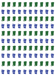 Recycling and Green Waste Garbage Can Stickers