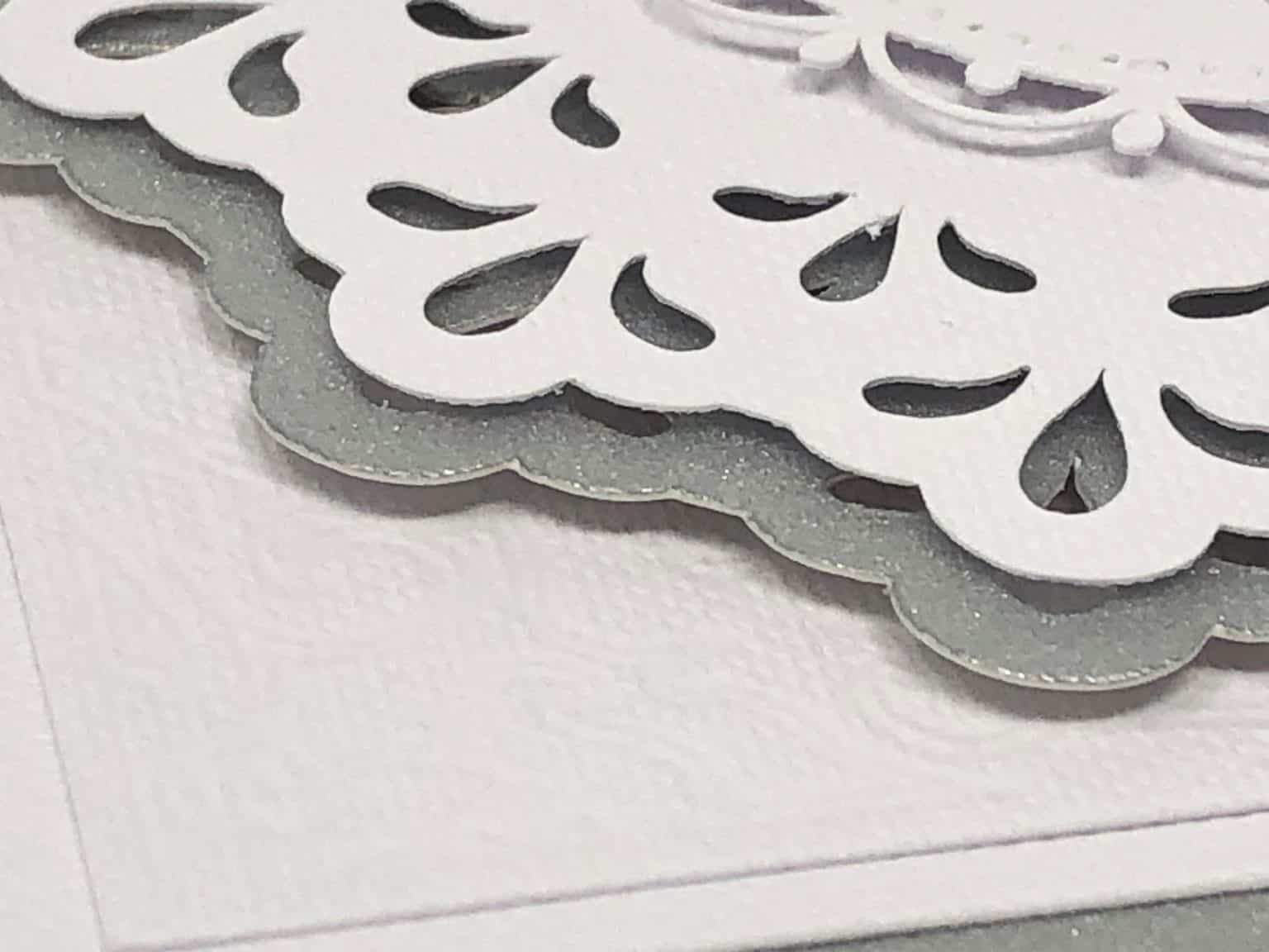 Cricut Anniversary Card picture showing how detailed the cuts are