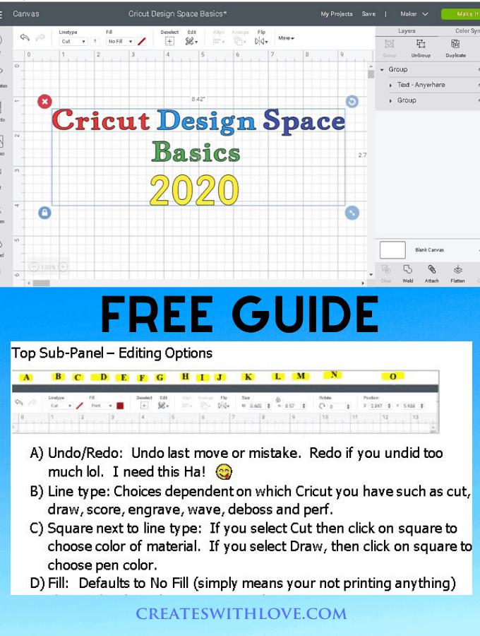 Cricut Design Space Tutorial. Basics for Beginners