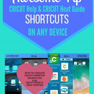 Cricut Help and Heat Guide Shortcuts on any device