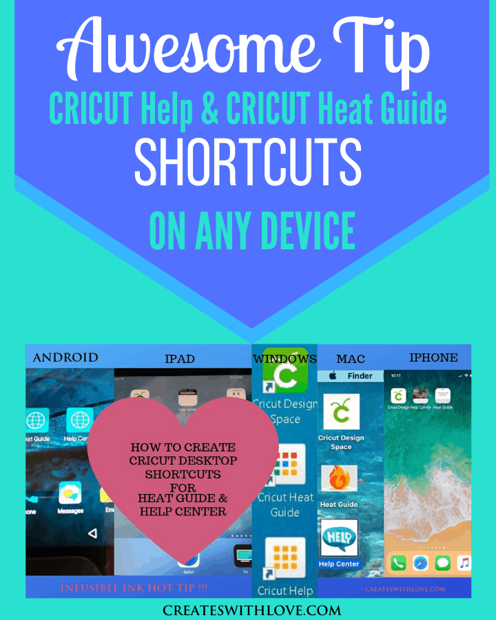 Cricut Help and Heat Guide Settings Shortcuts for any Device | How to set up Cricut Shortcuts on any device | Cricut hacks | #cricut #cricuthelp #cricutheatpresssettings #cricutprojects