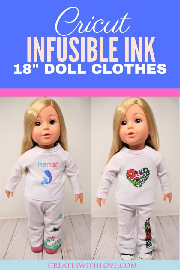 "Cricut Infusible Ink 18"" Doll Clothes Project"