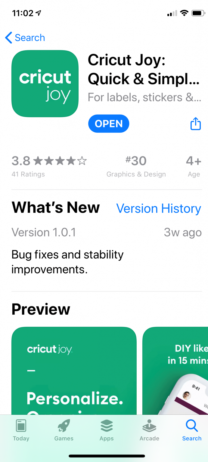 picture shows what the app looks like in the apple app store.