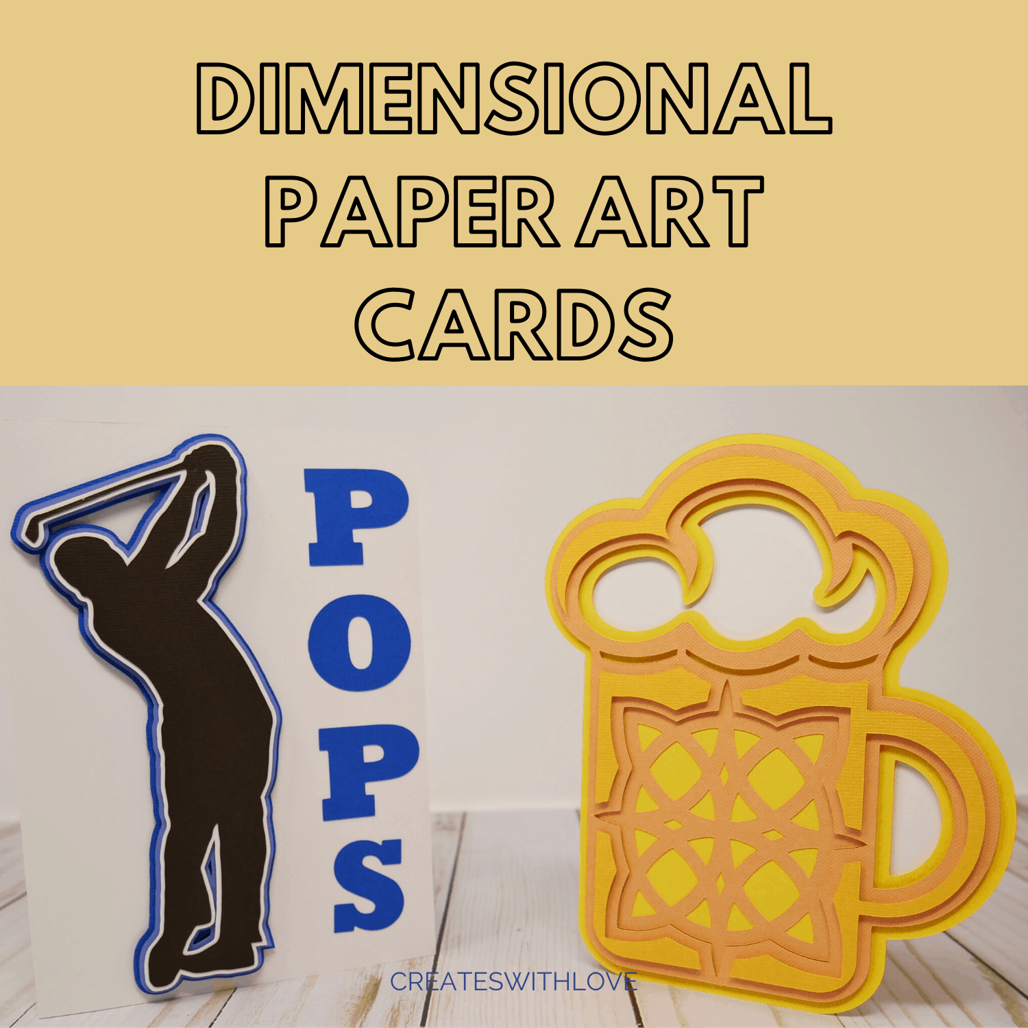 Dimensional Paper Art Cards