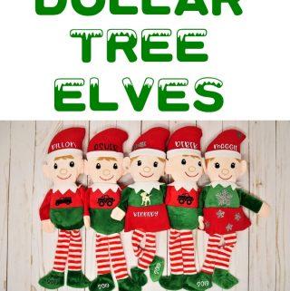 dollar tree elves using htv with a cricut easy press mini
