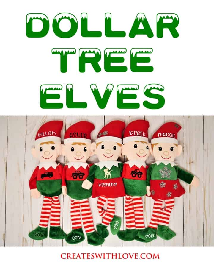 dollar tree elves using htv with a cricut easy press mini