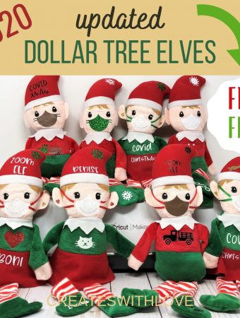 Dollar Tree Elves with Free Files