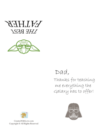 the Galaxy fathers day card states thanks for teaching me everything the Galaxy has to offer!