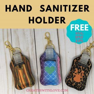 hand sanitizer holders using cricut infusible ink