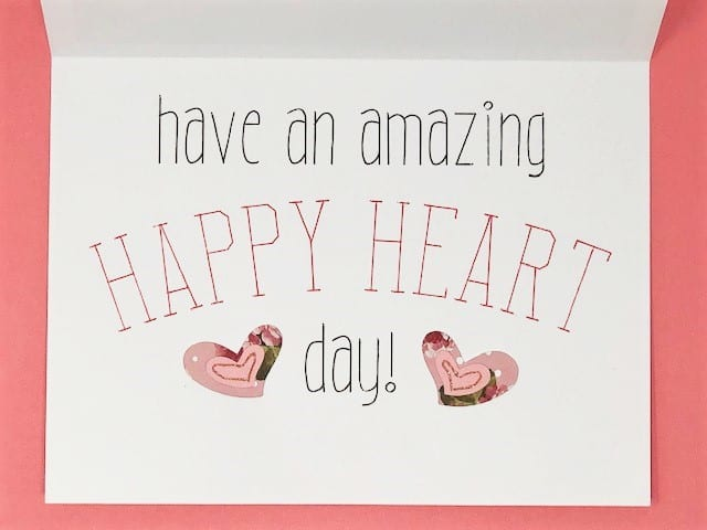 Have an amazing Happy Heart Day sentiment