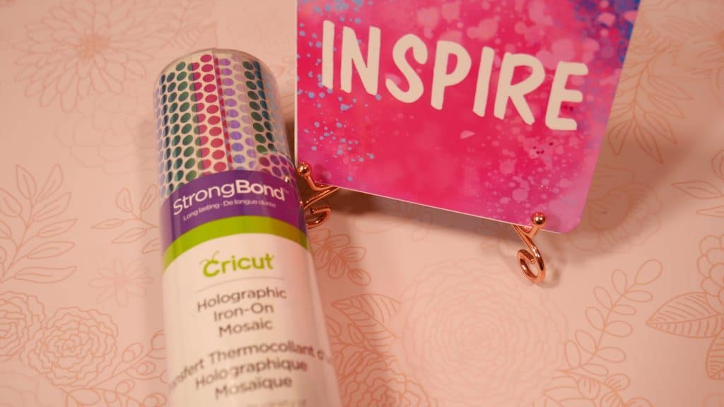 Cricut's Holographic Iron-On Mosaic in it's original package, so beautiful!