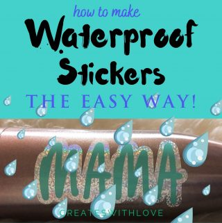 Waterproof stickers the easy way