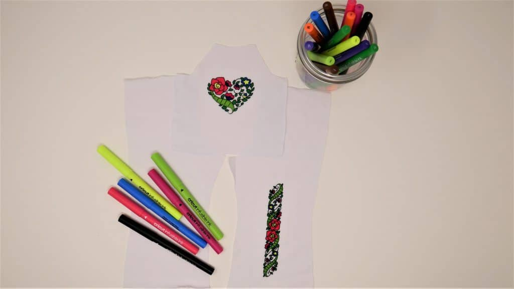 Infusible Ink Pens and t-shirt fabric