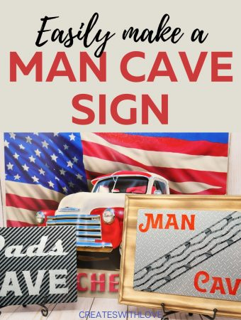 Make Man Cave Signs using Infusible Ink! Full tutorial and free pattern. #cricut #infusible ink #DIYCrafts