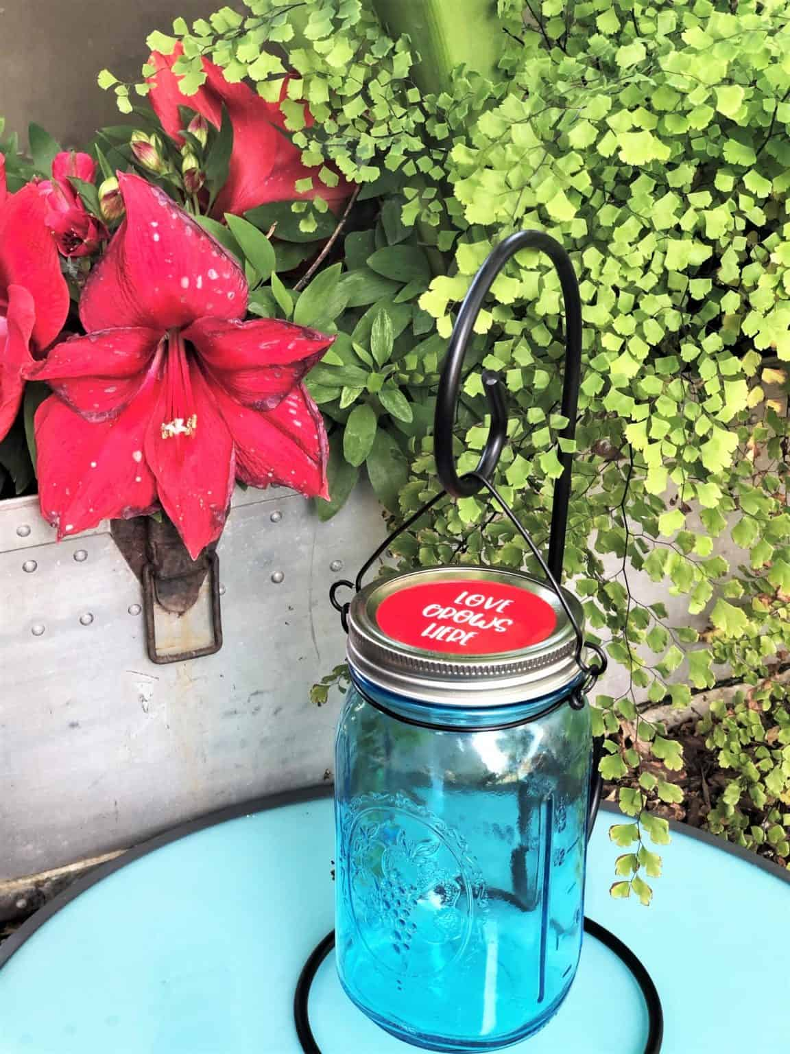 easy diy mason jar canning light that is bright and pretty