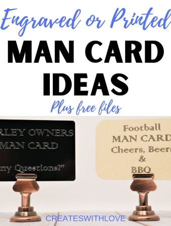 two man cards one is engraved and one is printed