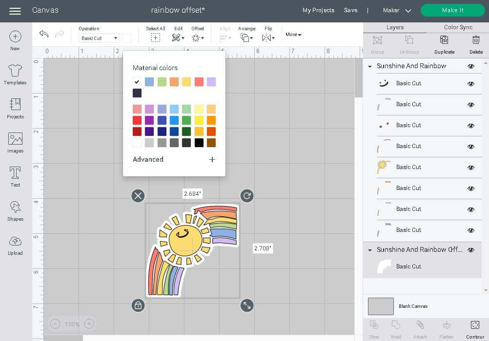 changing your offset layer to a different color