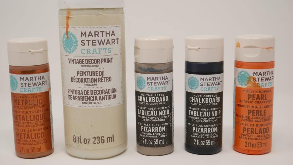 martha stewart craft paints used in project