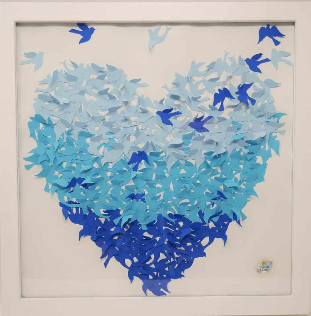 Cricut Shadow Box Art - Ombre Dragonfly