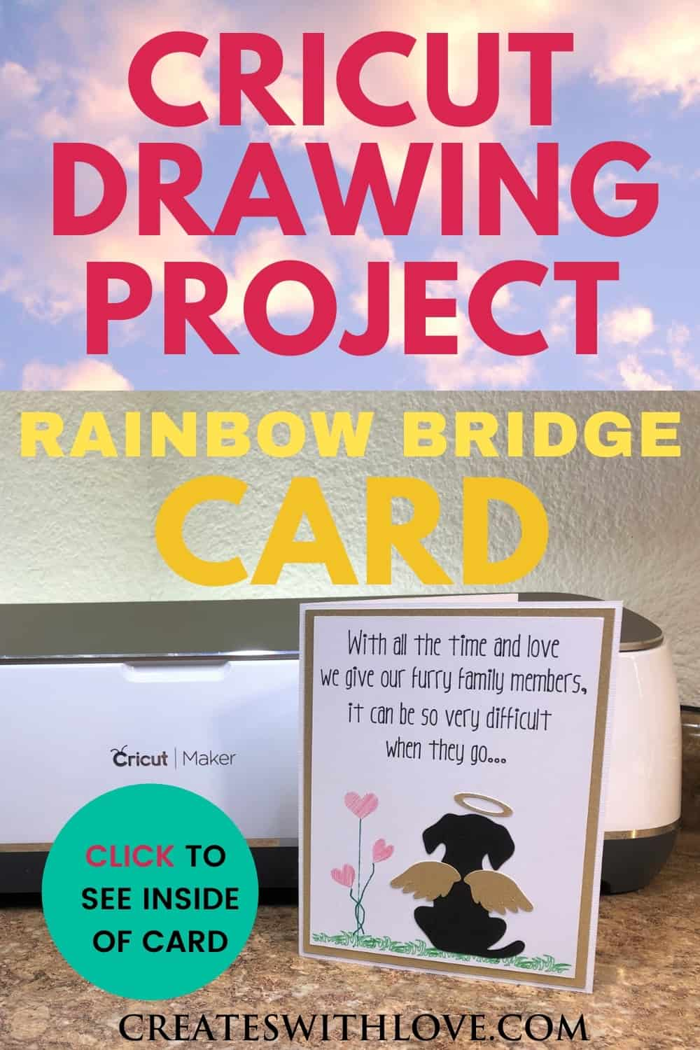 Cricut Drawing Project for a Pet Sympathy card