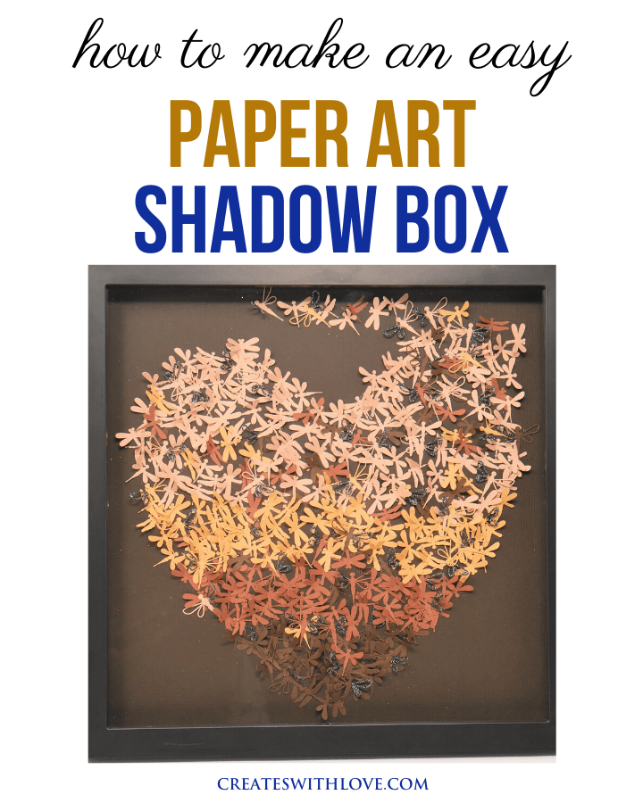 shadow box paper art using your Cricut