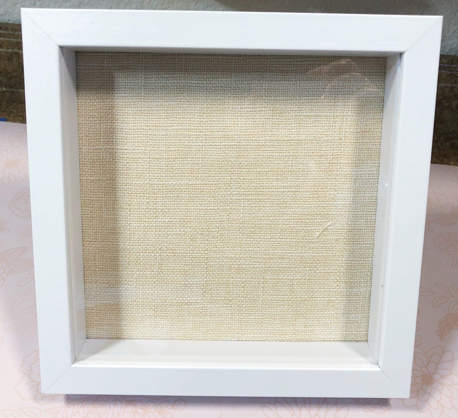 White Shadow Box frame