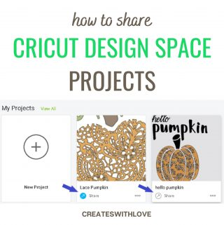 how to share cricut design space projects