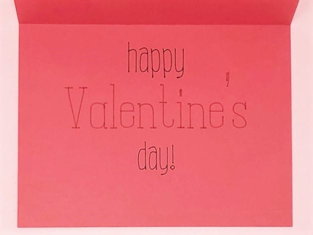 happy valentine's day is written inside of the next few cards