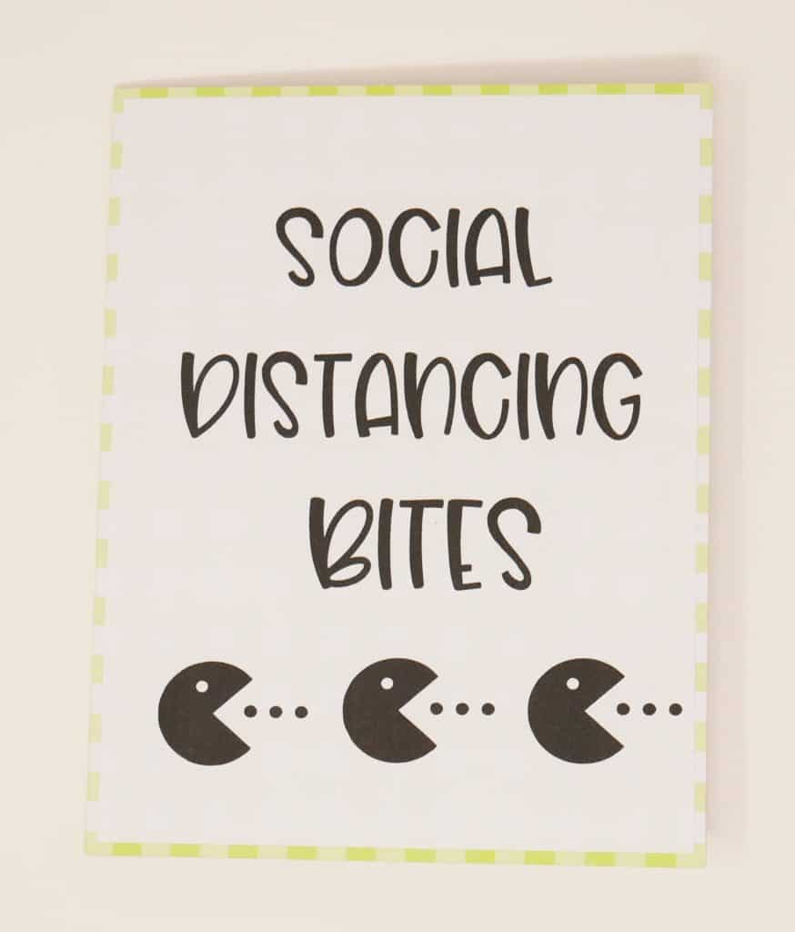 social distancing bites card