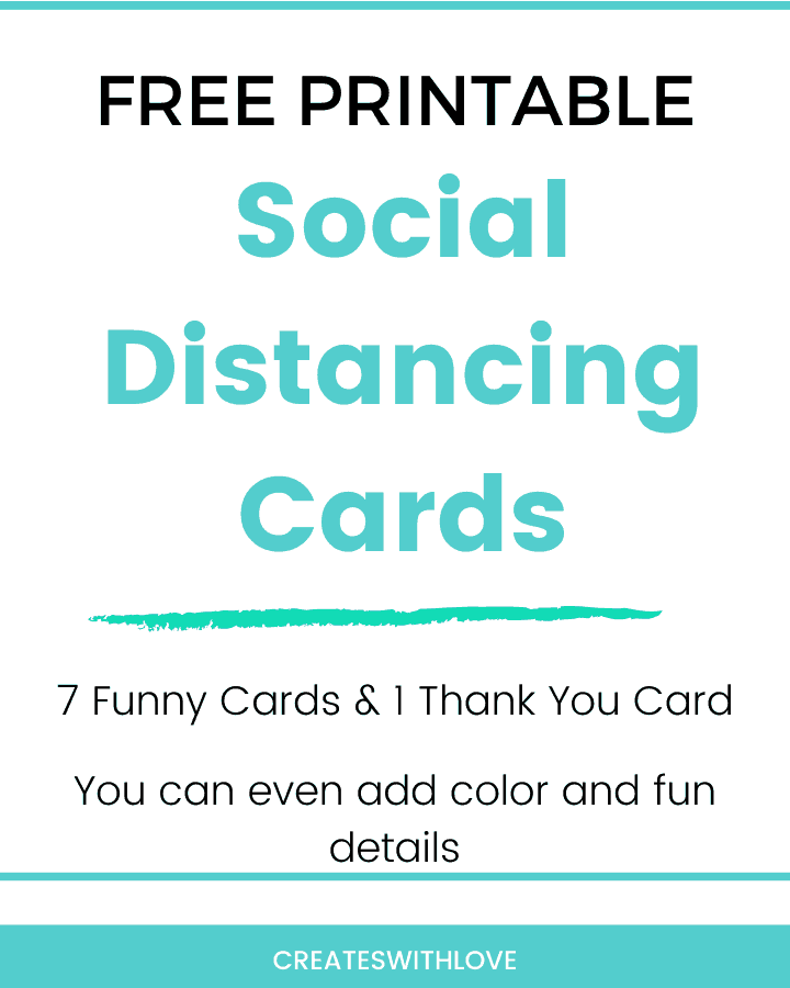 Social Distancing Cards that are free and printable