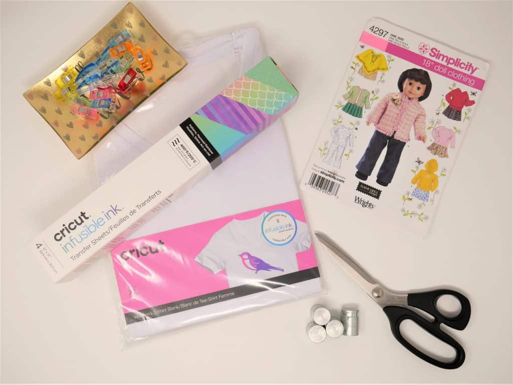 "Supplies needed to make 18"" Doll Clothes using Cricut Infusible Inks"