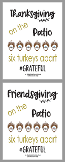 Thanksgiving and Friendsgiving pdf free printable files