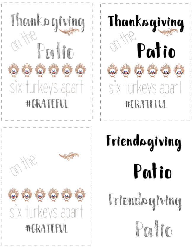 Thanksgiving and Friendsgiving on the Patio Cricut Design Space Projects to share.