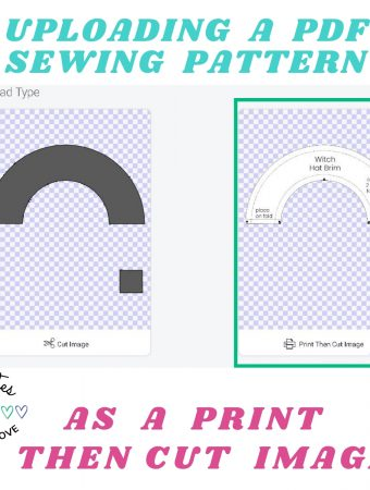 upload a pdf sewing pattern as a print then cut image