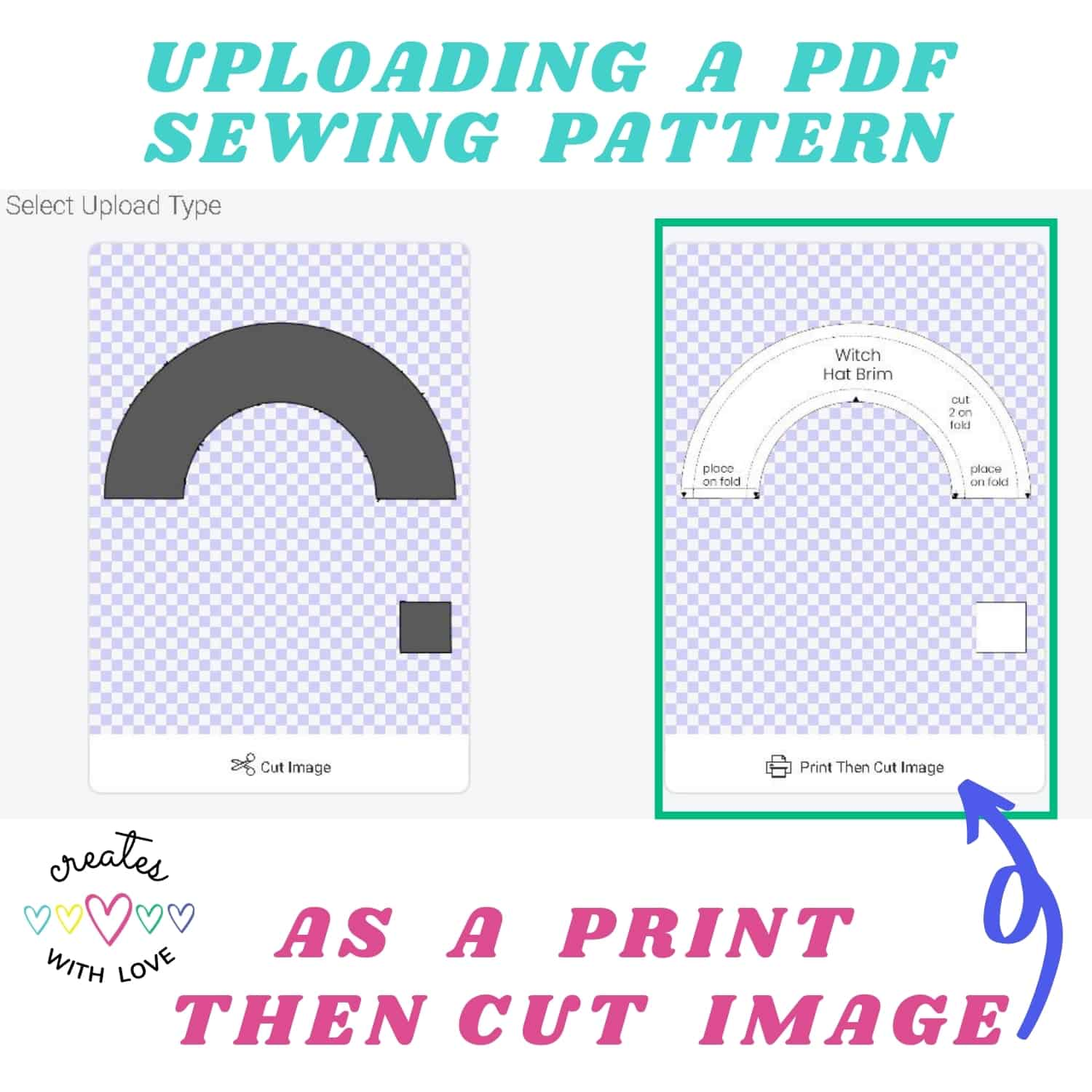upload a print then cut image for pdf sewing patterns