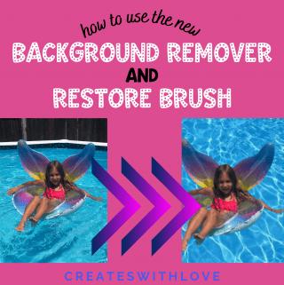 Cricut Background Remover and Restore Brush